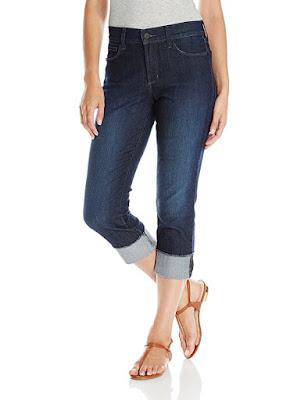 NYDJ Dayla Wide Cuff Capri Jeans $49 (reg $98)