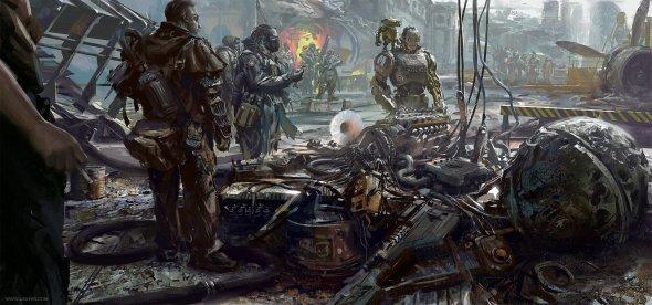 Lixin Yin artstation arte ilustrações ficção games filmes cyberpunk distopia