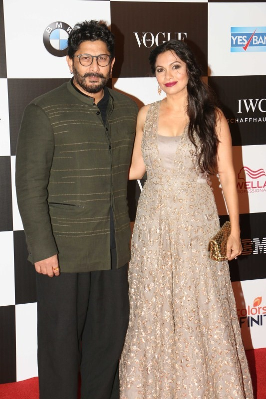 Arshad Warsi with Maria Goretti at Vogue Women of The Year 2017