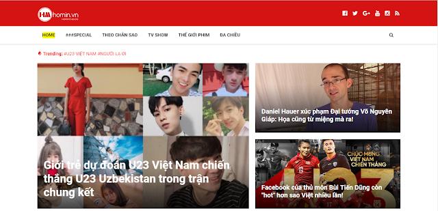 Giao diện đầu tiên của Homin.vn
