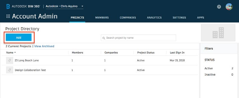 BIM 360 DESIGN : Set up Project baru dan Account Administrator
