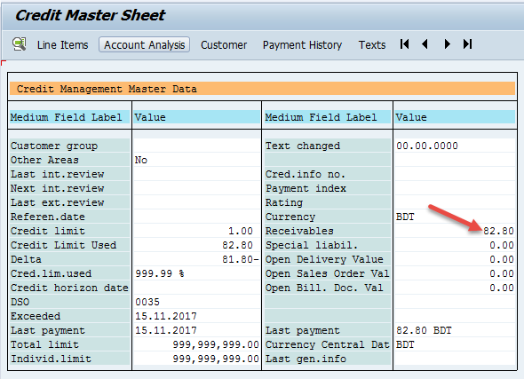 SAP SD-MM Consultant    Bangladesh: Changes in Credit master sheet