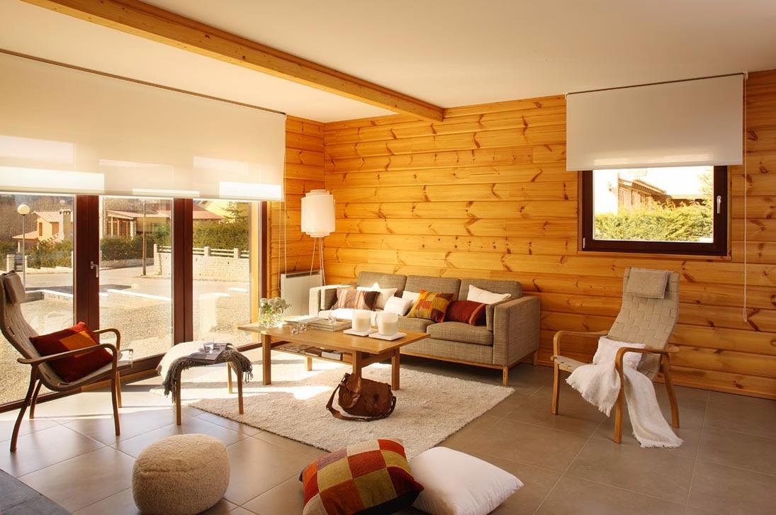 maisons en rondins de bois
