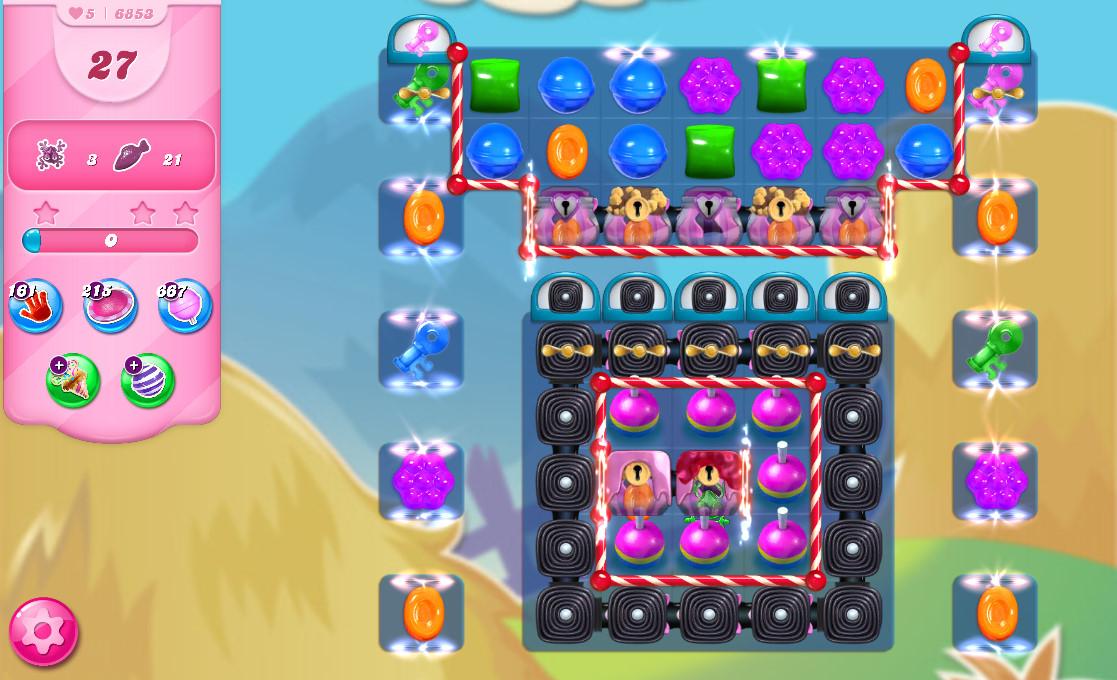Candy Crush Saga level 6853