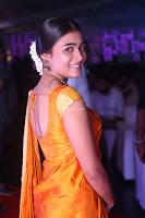 Shalini Pandey in Beautiful Orange Saree Sleeveless Blouse Choli ~  Exclusive Celebrities Galleries 011.JPG