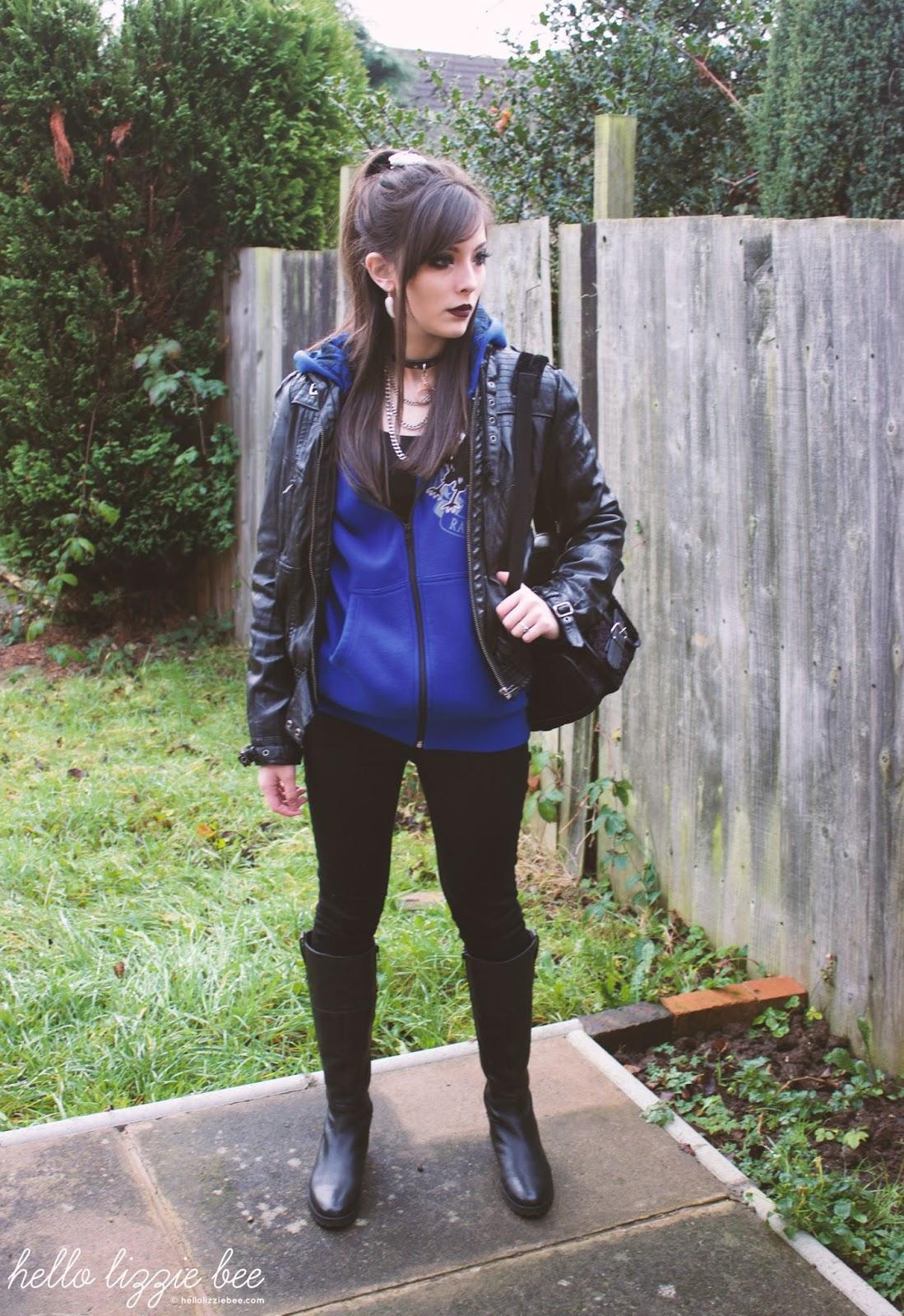 ravenclaw, rock, gyaru, outfit