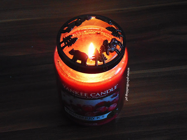 Yankee Candle, Cranberry Ice - duża świeca