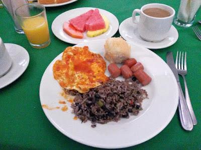 Desayuno en Costa Rica