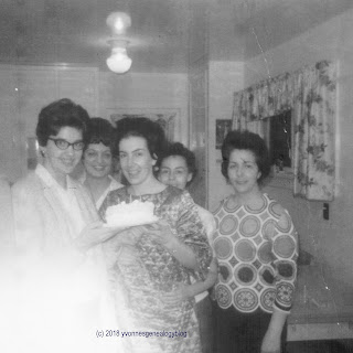 Jacqueline Belair with family and friends
