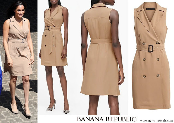 Meghan Markle wore Banana Republic Double Breasted Trench Dress
