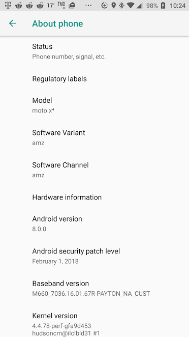 Moto X4 Android One and Amazon Prime Picks Up February 2018 Security Patch