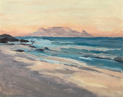 #182 'Table Mountain, Cape Town' 24x30cm