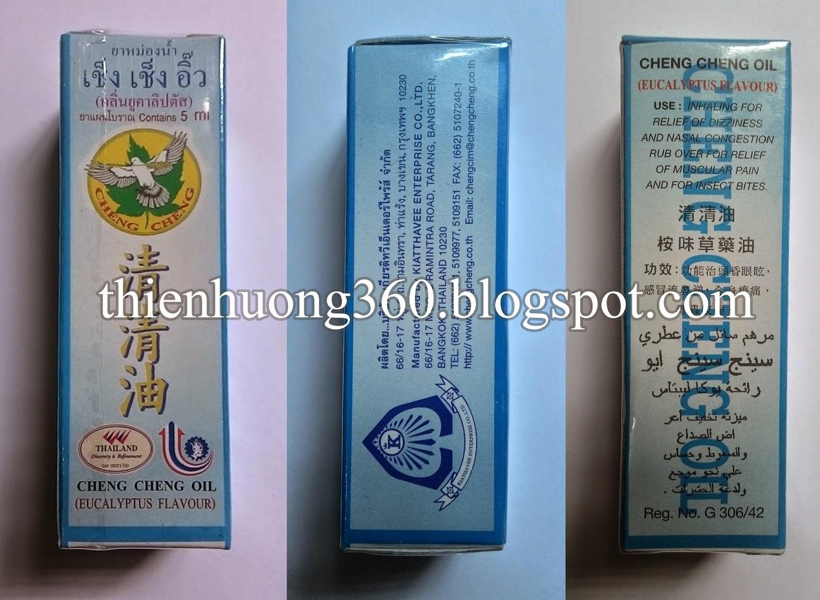 Dầu lăn nhãn hiệu Cheng Cheng Campuchia