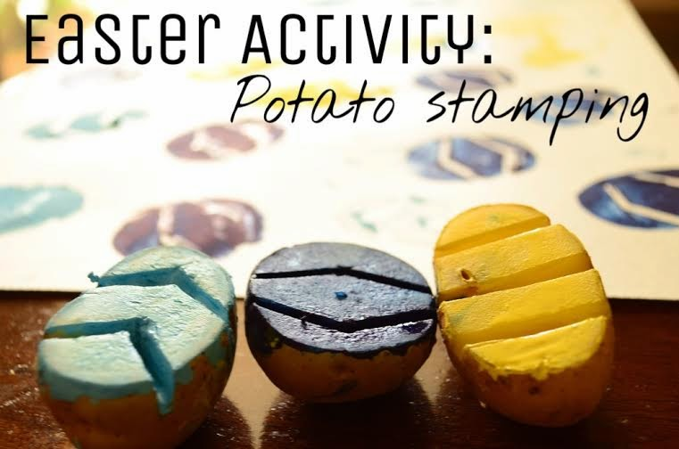 The Practical Mom: Easter Activity: Potato Stamps
