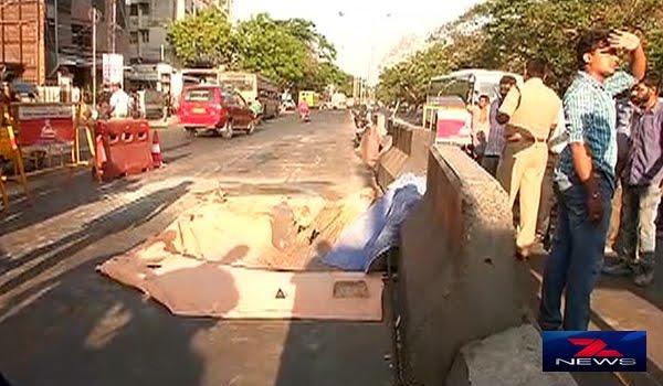 கீழ்ப்பாக்கம் சாலையில் 6 அடி ஆழ திடிர் பள்ளம்