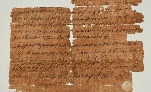 papiro antiguo hace referencia a la Última Cena