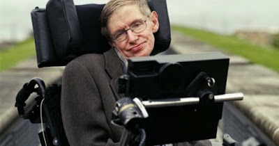 Sir Stephen Hawking setting world records with telescopes.