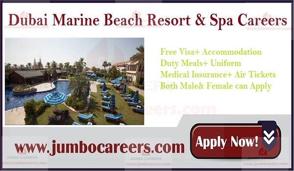 Dubai jobs with accommodation, Salary details of UAE 5 star hotel jobs,