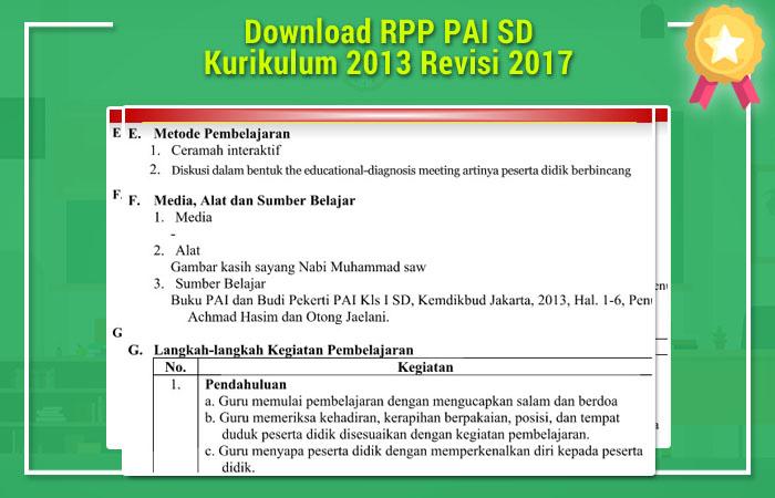 RPP PAI SD Kurikulum 2013 Revisi 2017