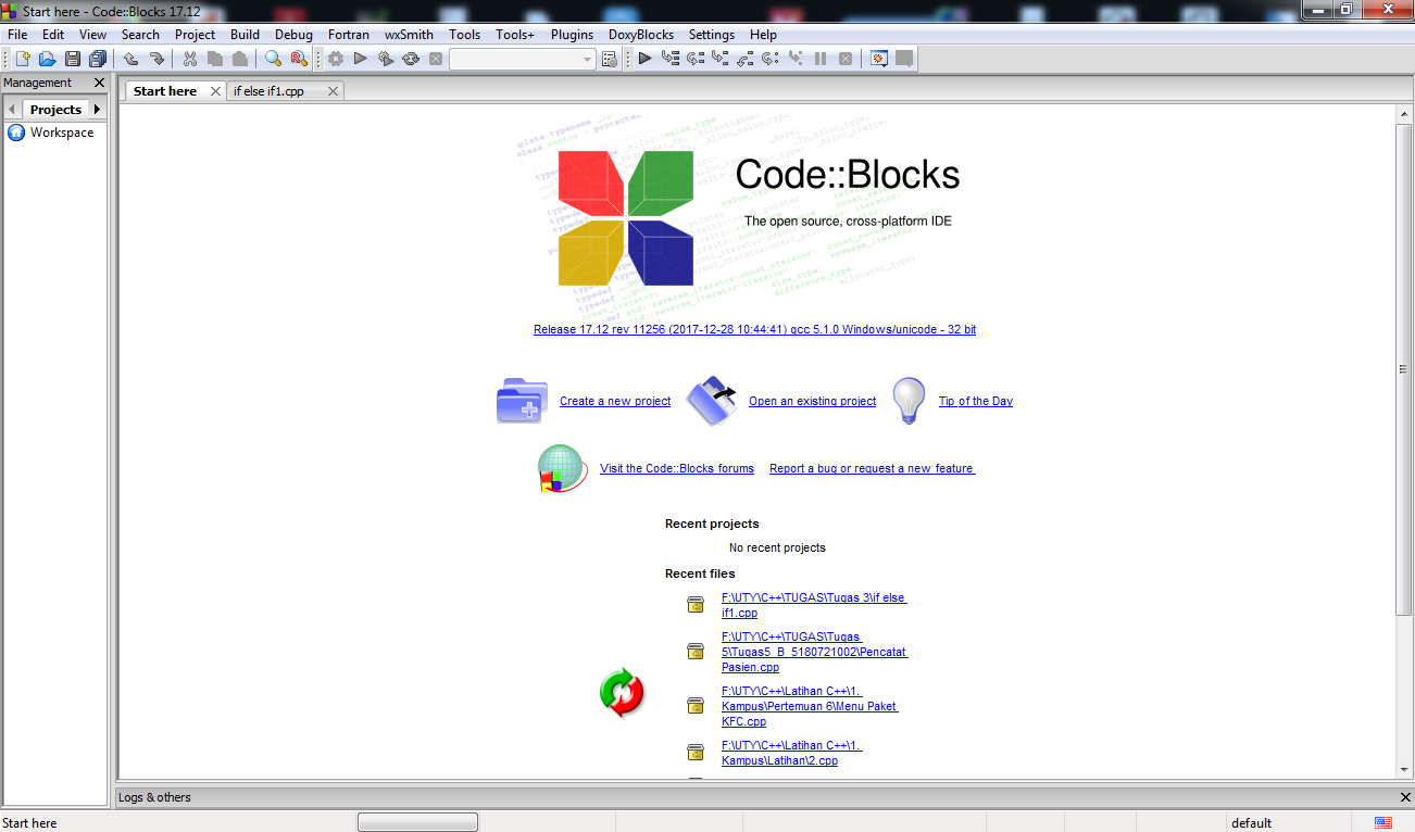Download Gratis Compiler C++ Code::Block - Software 100% Halal