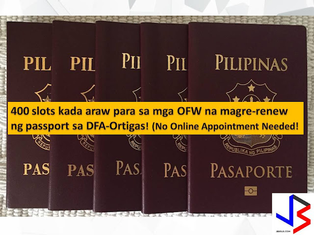 "Getting a passport in the Philippines is one of the slowest processes. Thousands or even millions of Filipinos want to have a passport but cannot be accommodated even in online appointment since it is always fully booked.  But the Department of Foreign Affairs (DFA) is doing its best to shorten the process, especially for the Overseas Filipino Workers (OFW) who are considered to be ""Modern Day Heroes"" of the country as their remittances keep our economy afloat."
