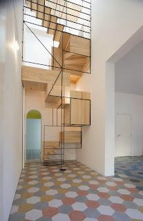 escalera escultural