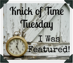 Upcycled, Repurposed and Vintage Decor Inspiration Party Knick of Time Tuesday