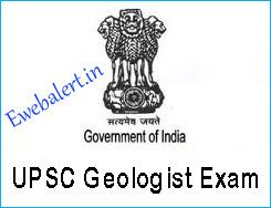 UPSC Geologist Exam