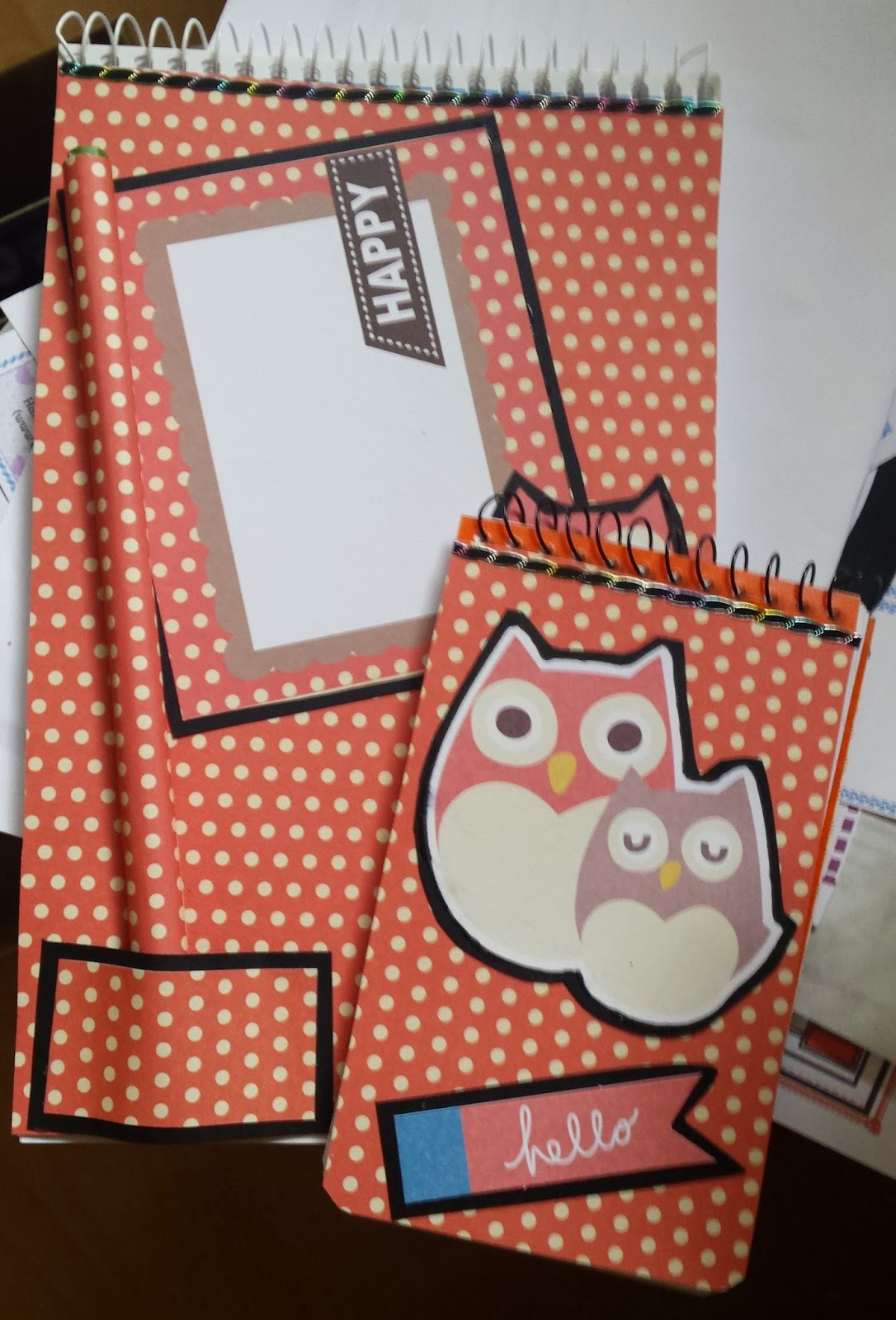 Owl stationery gift set
