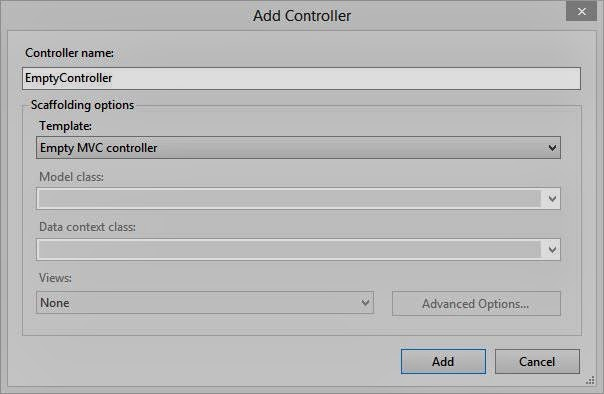 Create Custom View using an Empty Controller in VS 2013: MVC 4