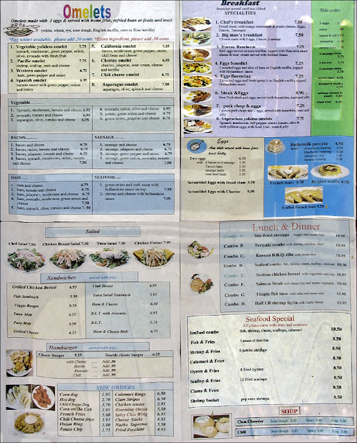 redondo beach coffee and bait restaurant OC menu