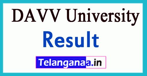DAVV Devi Ahilya Vishwa Vidyalaya University University Result