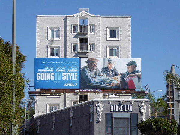 Going in Style remake billboard