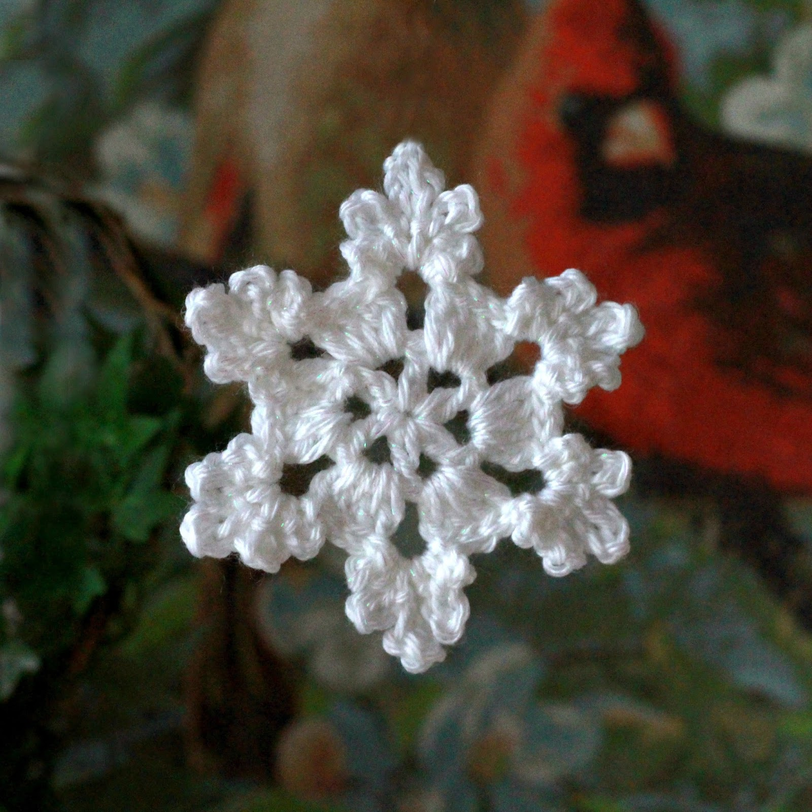 how to make a crochet snowflake