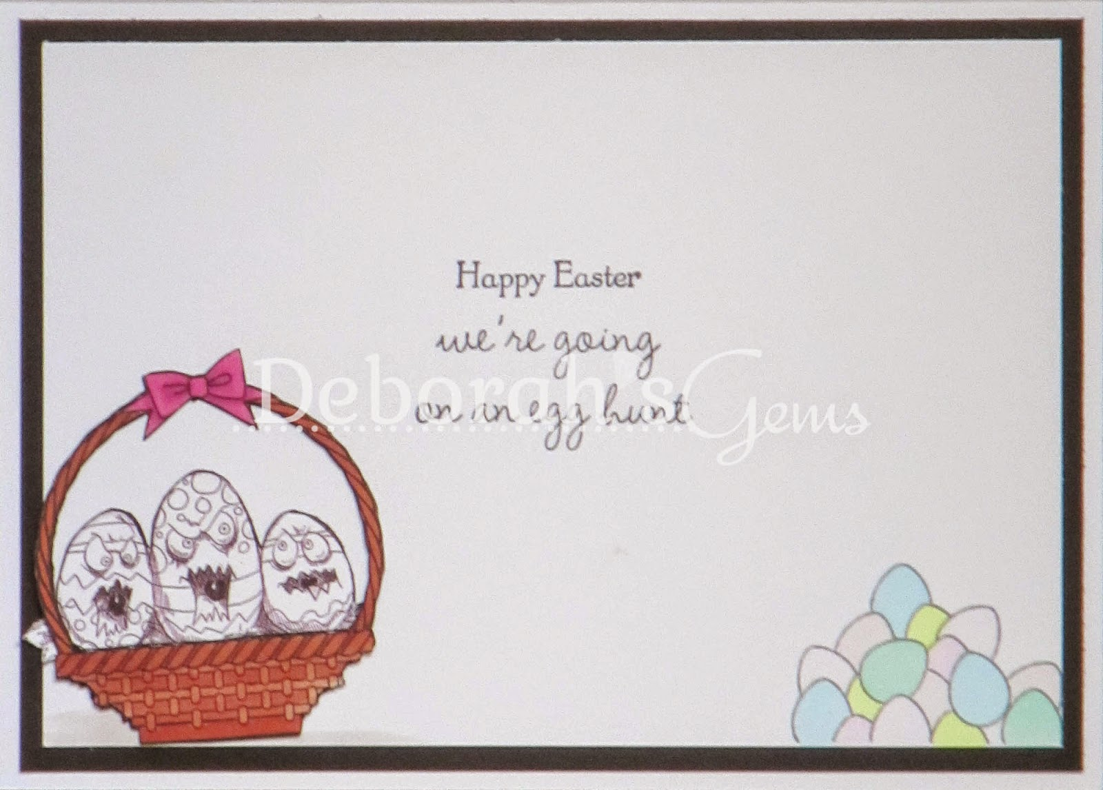 Happy Easter inside - photo by Deborah Frings - Deborah's Gems