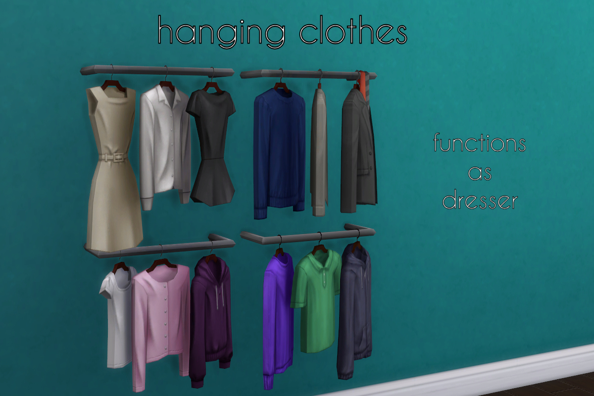 My Sims 4 Blog Halcyon Closet System By Madhox