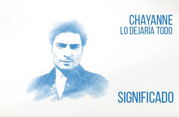 Lo Dejaría Todo significado de la canción Chayanne
