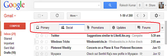 Enable New Inbox Style in Gmail
