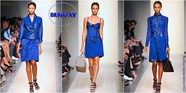 cobalt blue runway looks