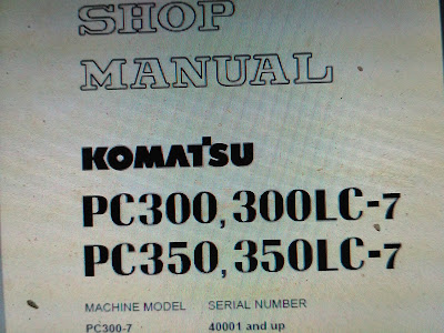 PC 300-7 PC 300LC-7 PC 350-7 PC350LC-7 SHOP MANUAL