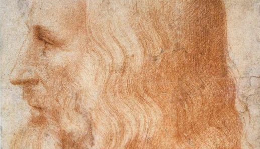Leonardo's profile by Francesco Melzi