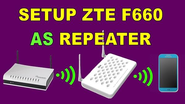 ZTE F660 GPON ONT JAZZTEL REPEATER