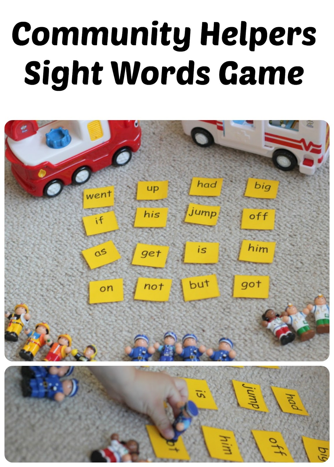 Community Helpers Sight Words Game
