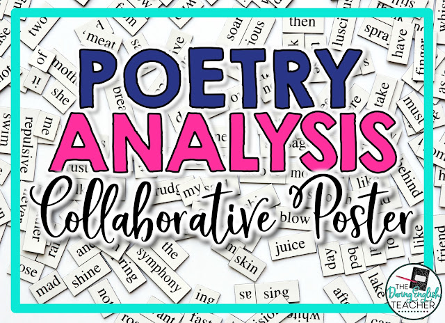 Poetry Analysis Collaborative Poster Project for Secondary ELA
