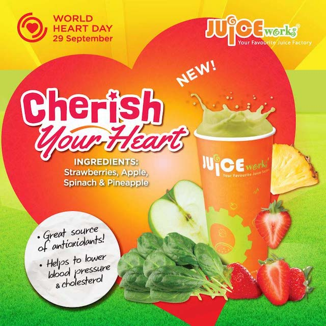 Cherish Your Heart - Contains strawberries, apple, spinach and pineapple