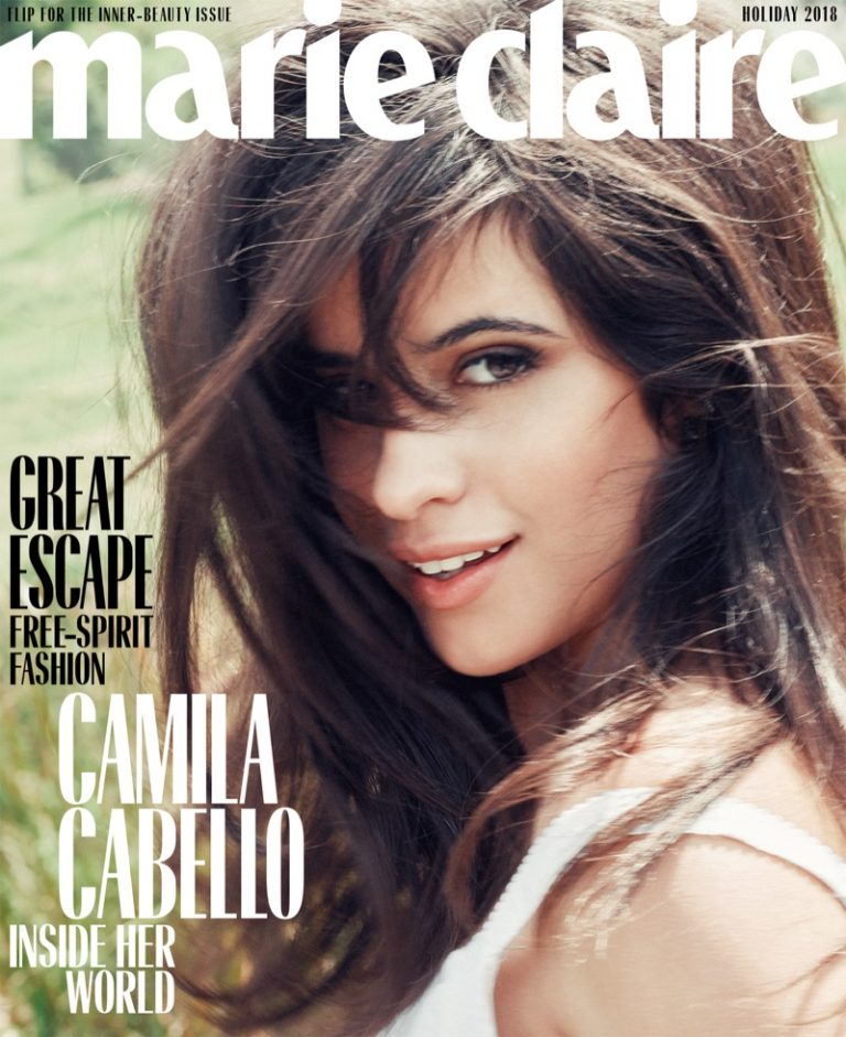 Camila Cabello on Marie Claire US Holiday 2018 Cover