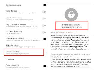 Status Bootloader Xiaomi