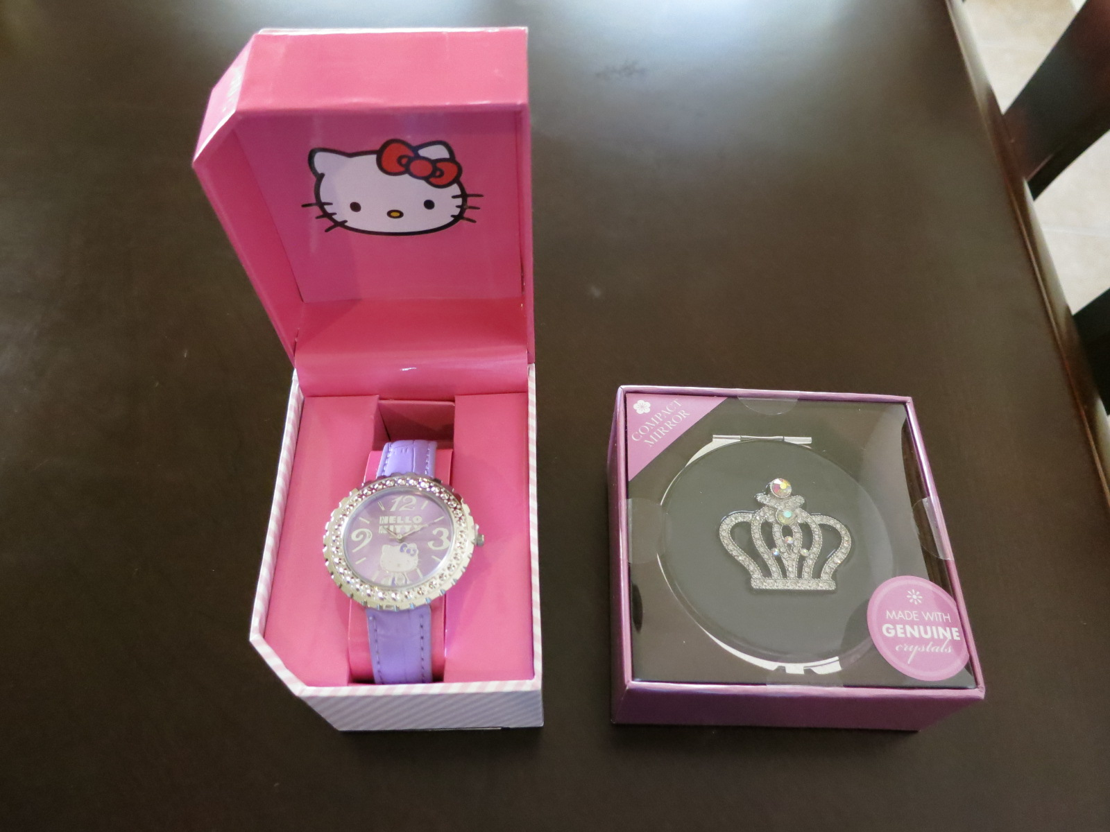Its A Hello Kitty Wrist Watch In Purple And Compact Mirror Something That She Can Use Everyday The Is My Better Halfs Idea He Said