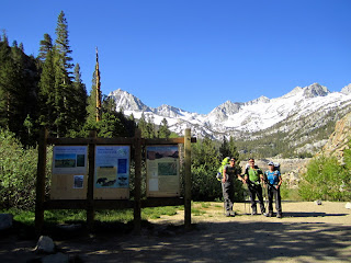 Kevin, Me, and Jacquelyn at the Bishop Pass Trailhead.