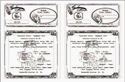 Free Download Kumpulan Contoh Blangko Format Template Undangan Pernikahan, Khitanan, Tasyakuran, Tahlilal & Doa Bersama, Walimahan & Puputan Gratis